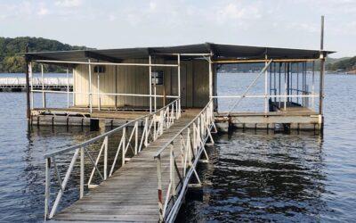 2 slip dock with fishing room
